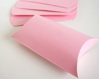 100 Pink Pillow Boxes - 4 x 3 x 1.25 inches (Bulk Order for Wedding Favors, Bridal Shower, Baby Showers, Party Favors)