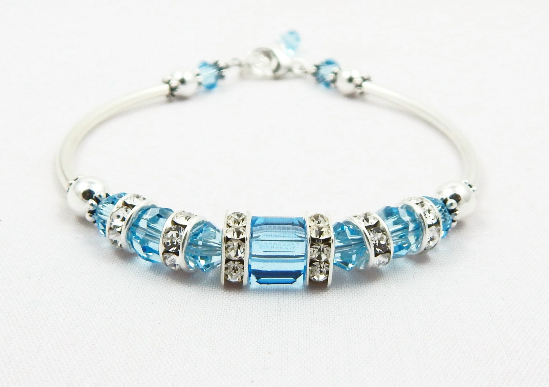 aquamarine birthstone bracelet birthstone by