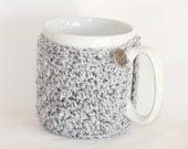 Mug Cozy  Grey Silver