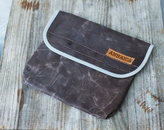 Bicycle accessory brown and grey tool pouch