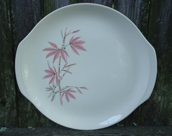 Pink Bamboo Cake Plate