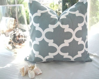 Designer Pillow Cover In Fynn Grey on Both Sides, Available in Different Sizes