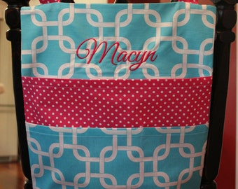 Personalized Child Chair Pockets- Personalized Chair Bags