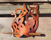 Octopus Leather Hair Orna...