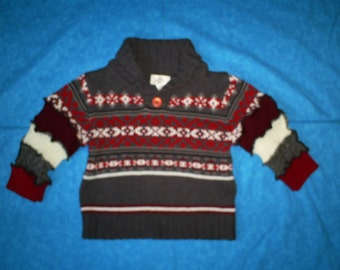SALE  Recycled, Boys, 3T, Sweater.Was 29.00.