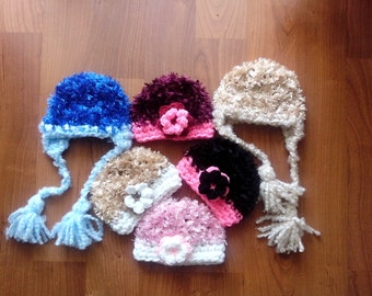 Fuzzy Baby Hats on SALE