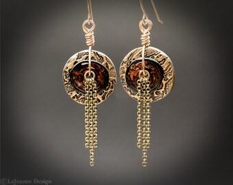 Bijou - Bronze Earrings