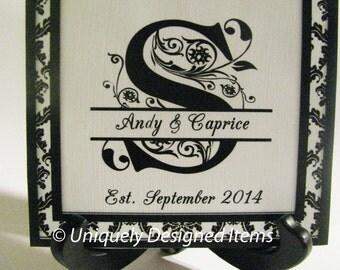 Personalized Monogram - Gift for Newlywed - Personalized Bride Gift - Personalized Family Name- Housewarming Gift - Monogram Gift