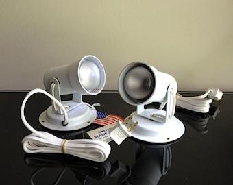 The Sweet Spot - Pair of White Vintage Tensor Spot Lights