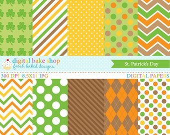 st patricks day papers digital - St. Patrick's Day Papers