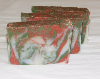 Clearance - Tobacco and Bay Leaf Mens Luxury Cold Process Rustic Soap