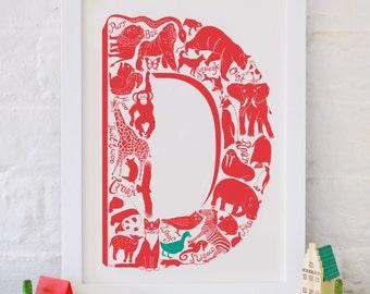 Animal Alphabet Letter D