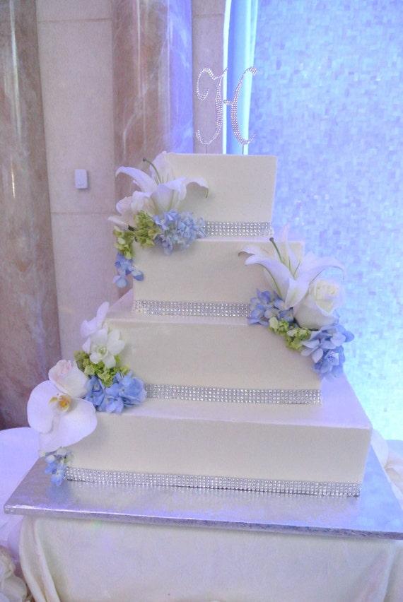 Rhinestone Wedding Cake Bling Rhinestone Banding By