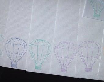 Air Balloon Letter Writing Set