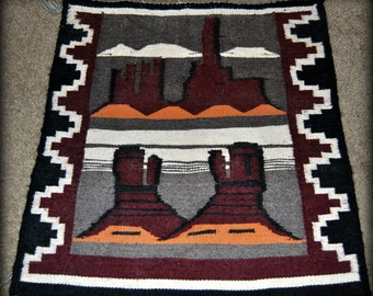 25% OFF Navajo Rug, Authentic Native American, Antiques Wall Decor, Pictorial Indian Rugs, Wool Tapestry Western Home Accents,