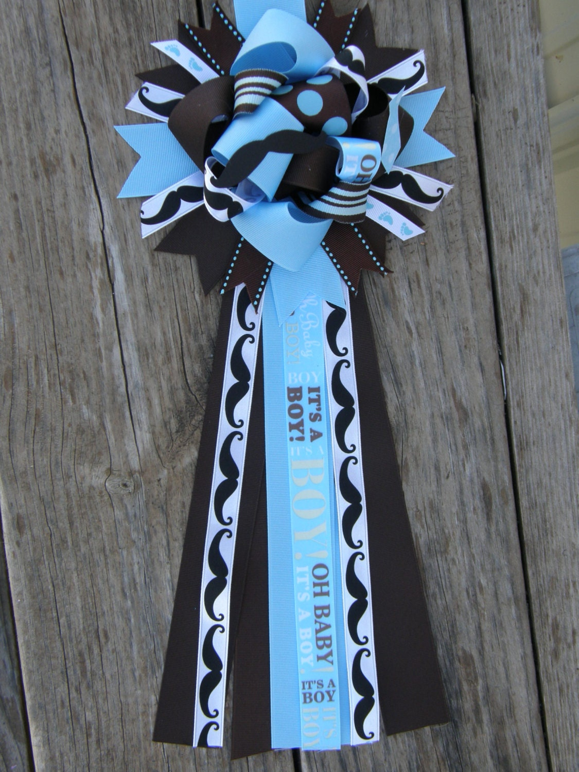 mustache baby shower mum mustache corsage by bonbow on etsy