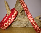Tablet or Card Woven Trim: Victory Red and Maize