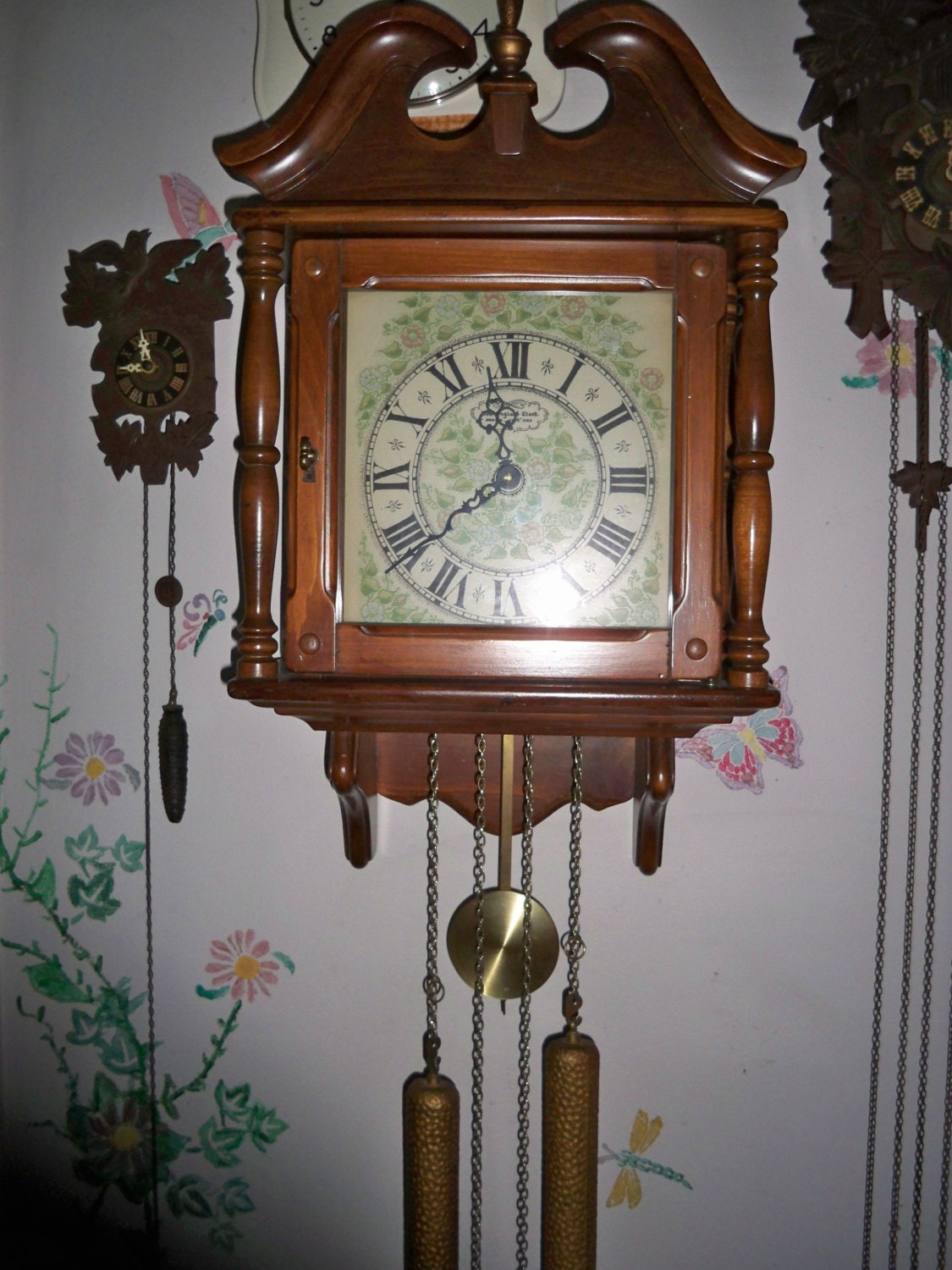 Reserved For Felicia Vintage 1970 S New England Clock