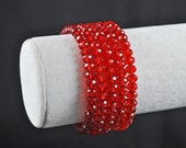 Beautiful Red Crystal Wrap Bracelet
