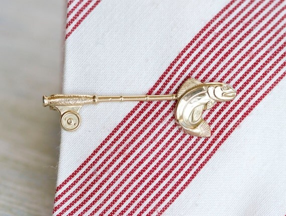 Gone Fishing - Stratton Vintage Tie Clip - Made in England