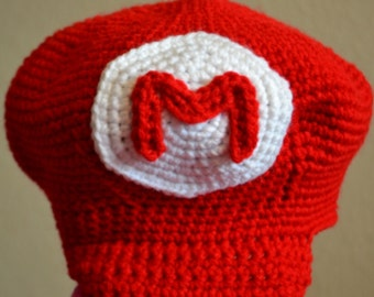 Super Mario Bros - Mario Crocheted Hat