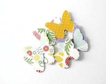 Bright Colorful Floral Butterfly Die Cuts - Summer Assorted Mix - Birthday Party Confetti