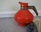 Vintage 1940s Ceramic Ware Coffee Carafe Orange