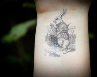 The White Rabbit - Alice In Wonderland Temporary Tattoo