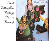 Giant Caterpillar Toy Pillow - Sewing - Vintage Pattern
