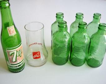 Vintage 7up, SEVEN-UP, 7up Glass, 7up Bottle Collection, Seven-up, Seven-up glasses, Bottle Collector, Pop Bottles, Instant Collection