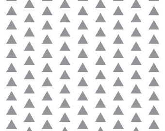 Straight Crib Skirt - Grey Triangles - ModFox Exclusive - Grey Triangle Crib Skirt