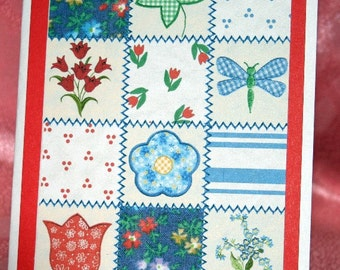 Patchwork Quilt Birthday Card  20140077