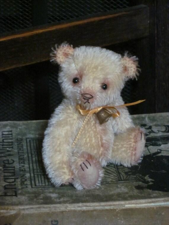 """pdf download pattern for 'Binky'- 4"""" miniature bear - Butterfly Bears"""