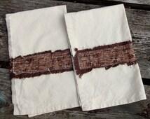 Tree Bark Kitchen Towel Set of 2