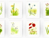Any 4 Vintage Botanical Prints from our Store. Instant Collection. Bathroom Decor Living Room Encyclopedia Illustrations