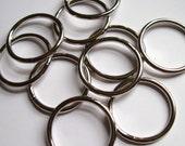"O rings jump rings 1 1/2"" silver"