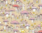 Arcadia - Coral Mushrooms - Organic Cotton Print Fabric by Sarah Watson from Cloud 9