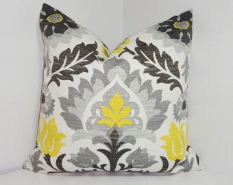 OUTDOOR Pillow Cover Bright Colorful Waverly Santa Maria Licorice Floral  Indoor/Outdoor Pillow Cover 18x18