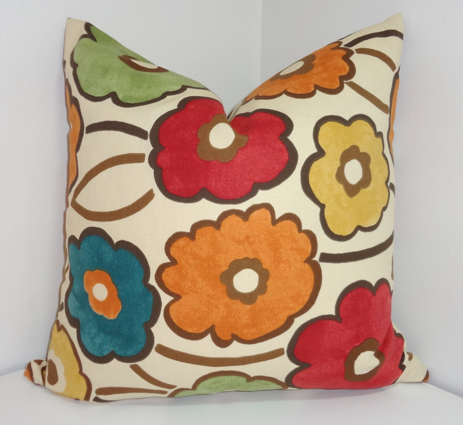 Large Flower Throw Pillow : Decorative Pillow Richloom Pia Large Floral Print by HomeLiving
