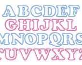 "Cute Baby Applique Font Set - Machine Embroidery Design - 5"", 6"", 7"" and 5x7 Hoop"