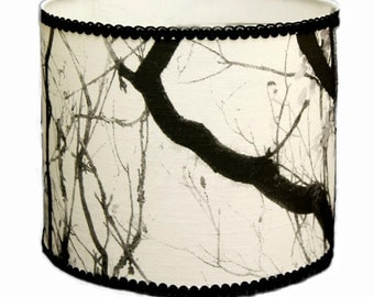 Black and White Lamp Shade, Fabric Shade, Drum Lamp Shade, Custom Shade for Lamp, Table Lamp Shade, Decorative Lamp Shade, Table Lampshade
