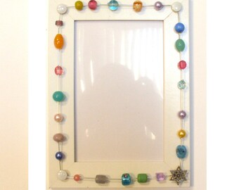 Beaded Star of David Picture Frame