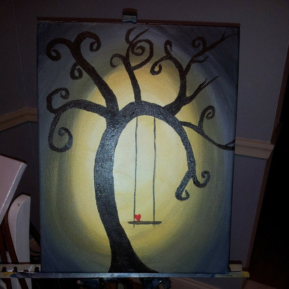 Acrylic Tree Swing Painting