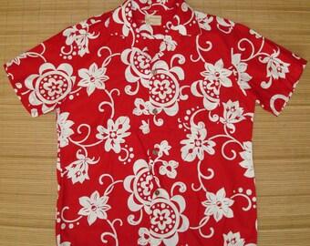 Mens Vintage 60s Royal Hawaiian Elvis Duke Shirt - L - The Hana Shirt Co