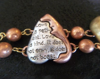 Inspirational Valentine Jewelry - Bible Verse - Christian Jewelry - Vintage Chain