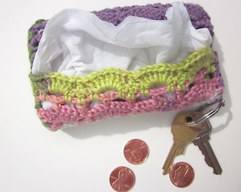 Travel-Size Tissue Case, Cover, Cozy, Pocket-Size Kleenex Holder