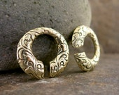 Carved Brass Ear Weights