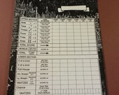 Radical Custom Yahtzee Score Sheets Dangling Fury 2014