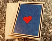 Lovely Heart Blank Note Card