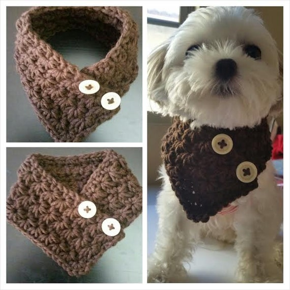 Crochet Dog Collar Etsy